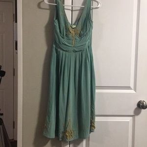 "Anthropologie ""tawny garden"" silk dress"